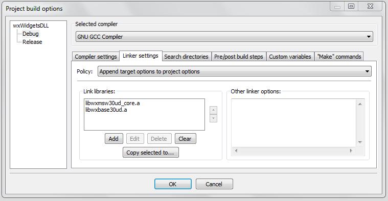Using wxWidgets Pre-Built Binary in CodeBlocks - WxWiki